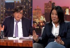 """Keiko Fujimori a Bayly: """"No te voy a aceptar que tildes a mi padre de dictador"""""""