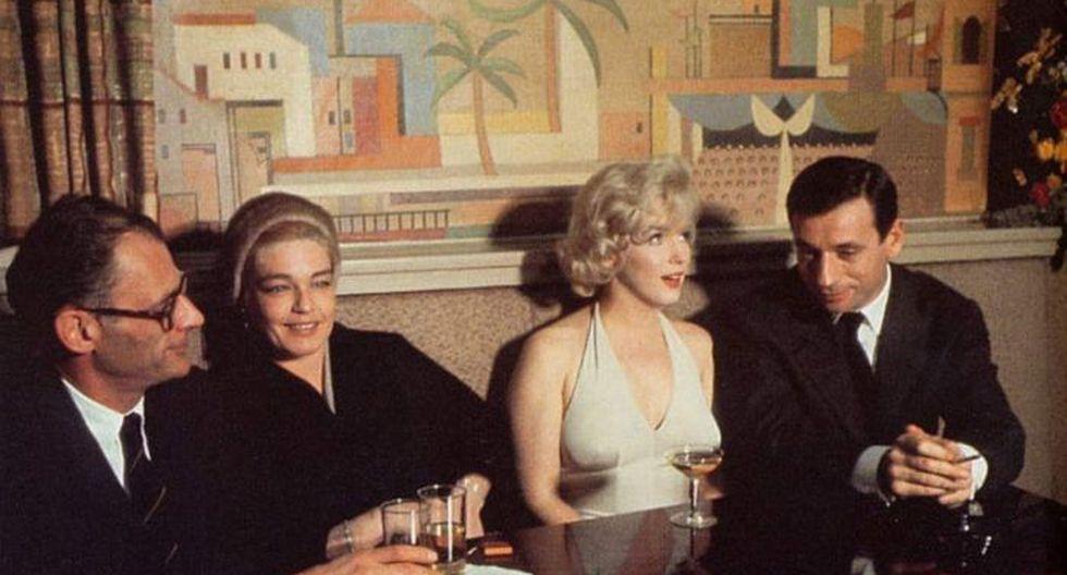 Marilyn Monroe en la fiesta del estreno de Let's Make Love.