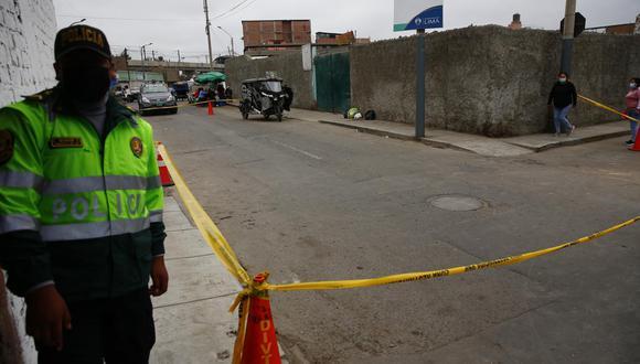 Escena del crimen fue custodiada por la Policía Nacional. | Foto: Hugo Curotto