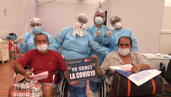 La cantidad de pacientes recuperados aumentó este sábado. (Foto: Minsa)
