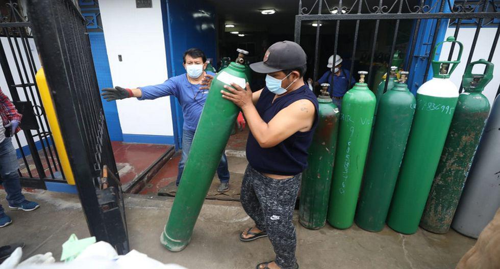 Luis Barsallo mantiene los precios de su empresa de oxígeno ubicada en el Callao. (Foto: GEC/Britanie Arroyo)