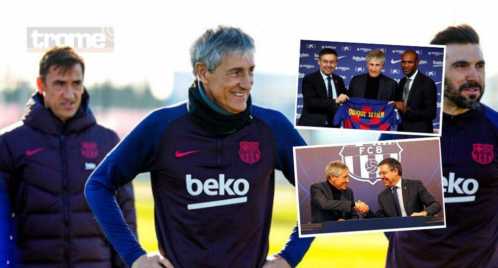 Quique Setién  presentado como DT de Barcelona