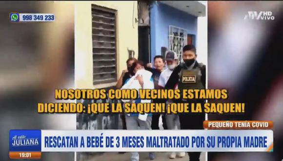 Vecinos denunciaron que mujer constantemente maltrata a la criatura. (Captura Al Estilo Juliana /ATV)