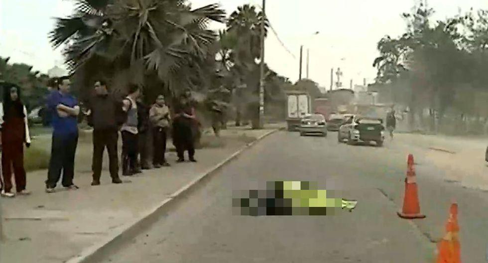 El accidente se produjo en la avenida Universitaria. (Foto: Captura/Latina)