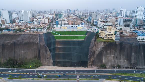 Polémica por sistema de andenería construidos en la Costa Verde por la Municipalidad de Lima para evitar deslizamientos de tierra y piedras. (Foto: MML)