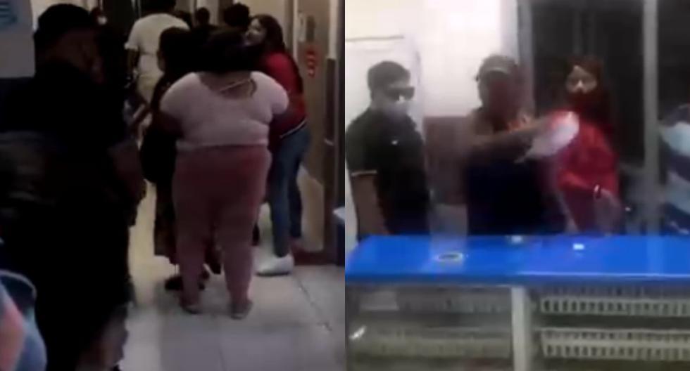 Decenas de miembros del personal médico del hospital del sur de Santiago de Chile se unieron en un parón laboral para protestar y denunciar situaciones violentas con familiares de pacientes. (Captura de video).