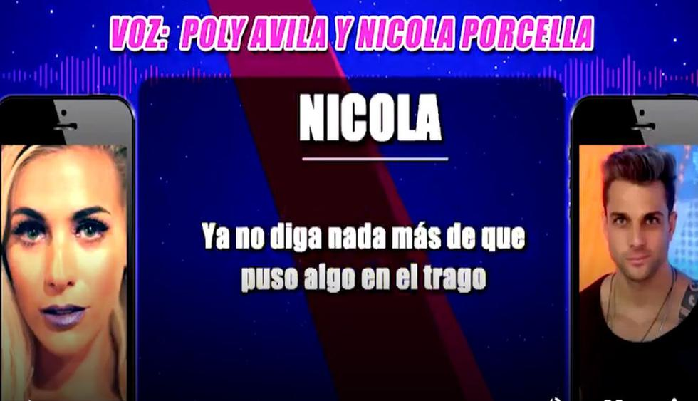 """Nicola Porcella pidió a Poly Ávila que no diga que alguien """"puso algo"""" en su trago, según nuevo audio. (Video: Magaly Tv. La firme)"""