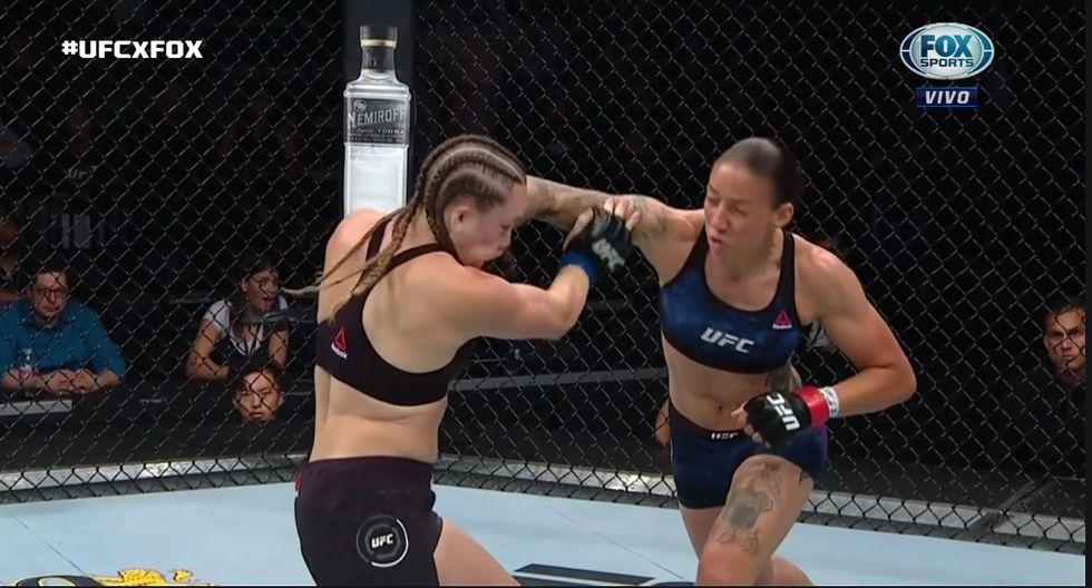 La holandesa Germaine de Randamie va por el título de peso gallo del UFC. (Captura Fox Sports)