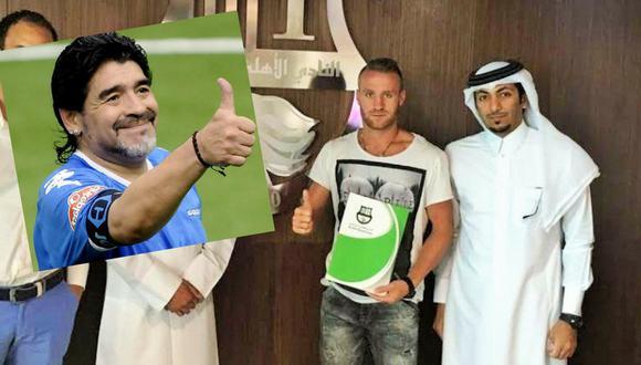 Danilo Carando  es el nuevo capricho de Diego Maradona en Emiratos Árabes