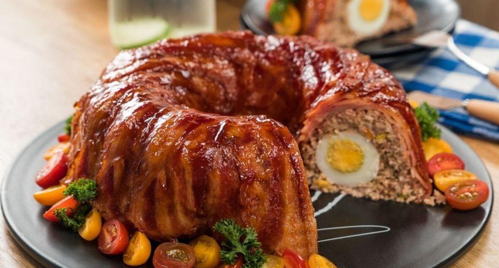 Rosca de carne con tocino. (Foto: Kiwilimón)