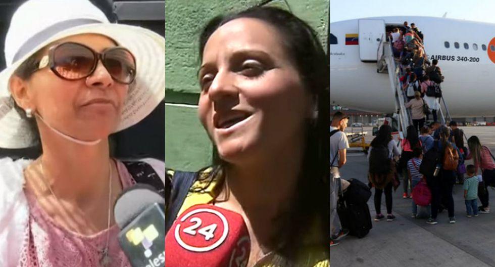 Venezolanos en Chile regresan a Venezuela y se muestran agradecidos con el país que los acogió | Composición de Trome con capturas de teleSUR tv y 24horas.cl y foto de la Cancillería de Venezuela