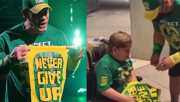 John Cena continúa cumpliendo los sueños de niños que quieren conocerlo. (WWE/ Instagram)