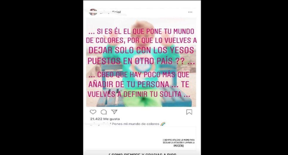 Hermana de Antonio Pavón explotó con Sheyla Rojas porque dejó a su hijo en Estados Unidos. (Fotos: Instagram)
