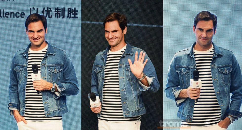 Roger Federer  demostró su  cuota de humor y sorprendió a sus fanáticos en Shanghai