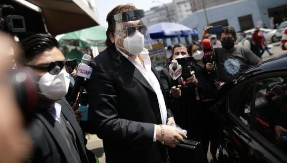 Richard Swing llega al Congreso para denunciar a Urresti | Foto: Anthony Niño de Guzmán / @photo.gec