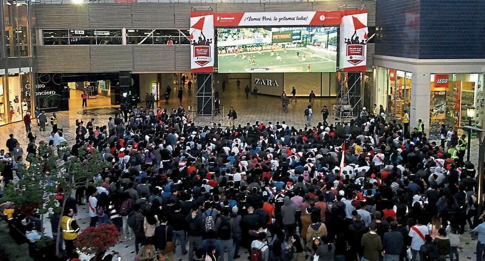 Hinchas podrán disfrutar del Perú vs. Islandia en centros comerciales.
