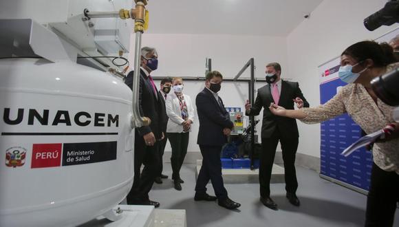 La planta de oxígeno es capaz de producir hasta 30 m³ por hora de oxígeno medicinal. (Foto: UNACEM)