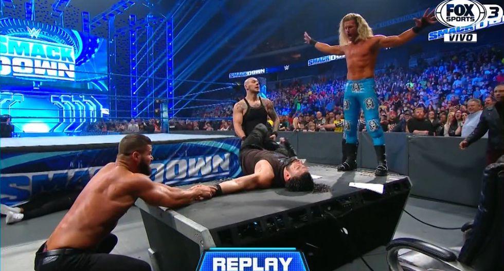 Robert Roode sorprendió a los técnicos y Roman Reigns llevó la peor parte. (Captura TV)