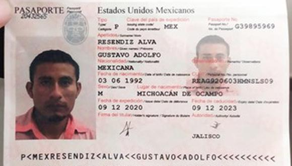Gustavo Resendiz, uno de los detenidos.