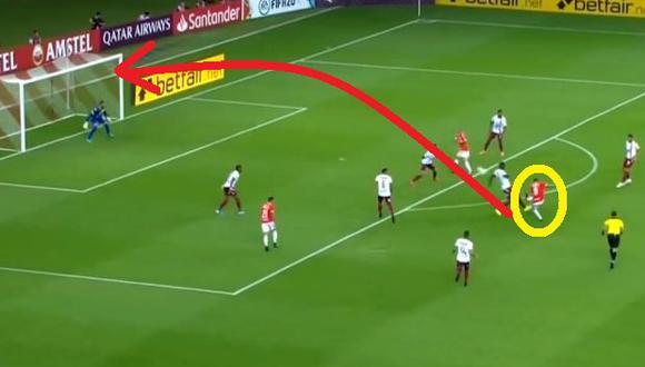 Paolo Guerrero casi marca gol en Inter-Tolima por Copa Libertadores: Furibundo remate fuera del área Video