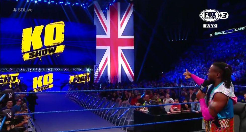 Sami Zayn volvió a unir fuerzas con Kevin Owens para atacar a Kofi Kingston. (Captura Fox Sports 3)