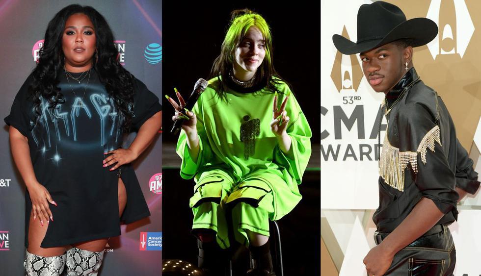Lizzo, Billie Eilish y Lil Nas X lideran las nominaciones a los premios Grammy 2020. (Foto: AFP)