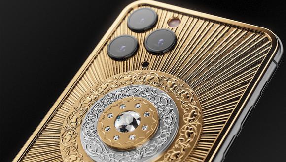 ¿Te atreverías a pagar cerca de 140 mil dólares solo por comprar este iPhone 11 de oro? (Foto: Caviar)