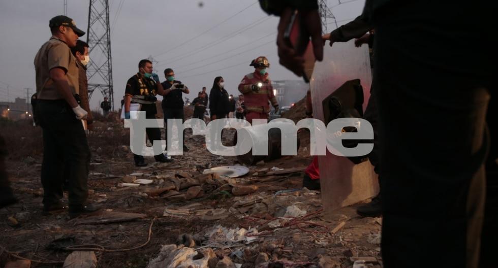 Hallan cádaver de una mujer dentro de un cilindro encontrado por un vecino en Villa El Salvador