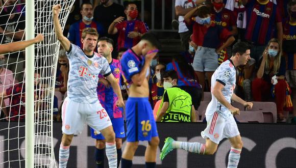 Bayern Múnich fue superior al Barcelona durante todo el partido. Foto: AFP.