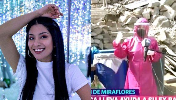 Wendy Sulca llegó hasta su antiguo barrio de San Juan de Miraflores, llevando ayuda. (Instagram / Captura América)