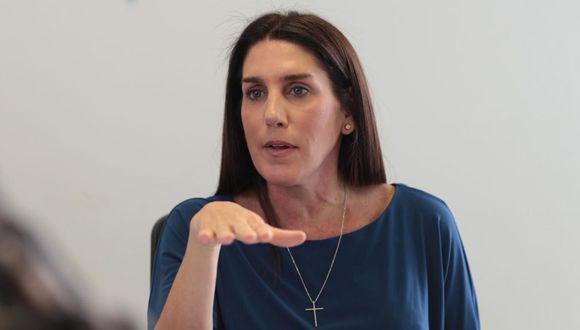 Carolina Lizárraga se inscribió como precandidata presidencial por el Partido Morado. (GEC)