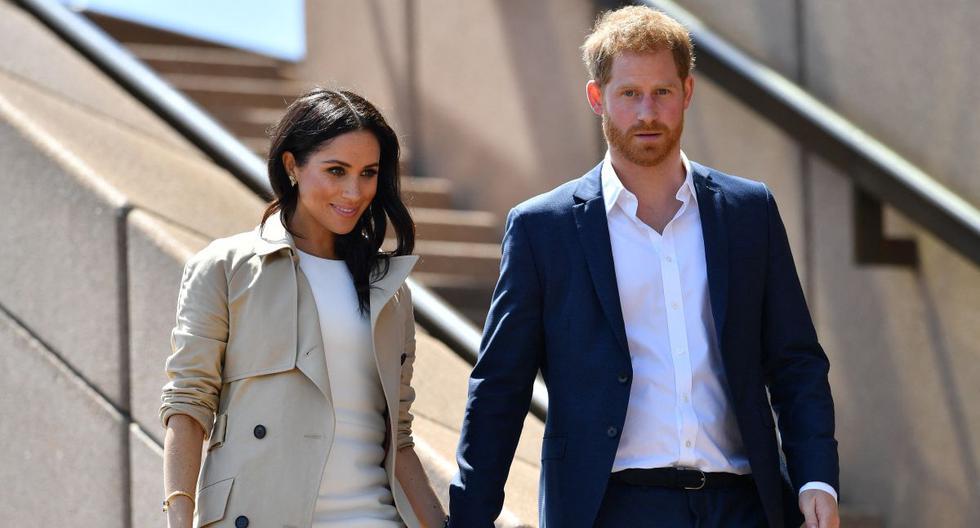 Imagen de Meghan Markle y el príncipe Harry. (Foto: SAEED KHAN / AFP)