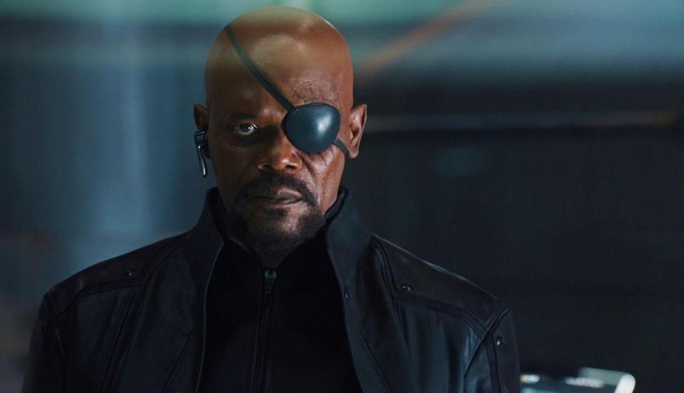 "Samuel L. Jackson descubre error en parche de Nick Fury en afiche de ""Spider-Man: Far From Home"". (Foto: Marvel Studios)"