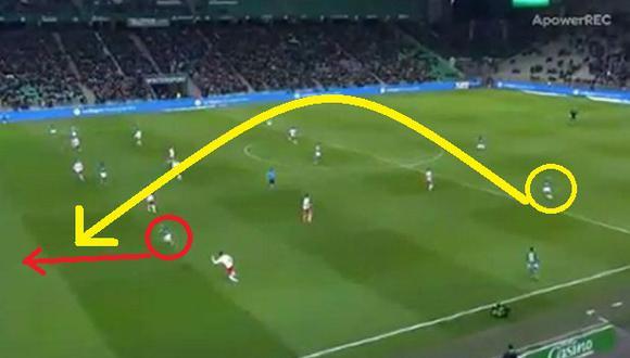 Miguel Trauco: Asistencia de gol (Video: Ligue 1)