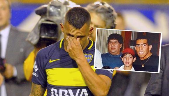 Carlos Tevez se enteró de la muerte de su padre en concentración de Boca Juniors en Rosario (Foto Dyn)