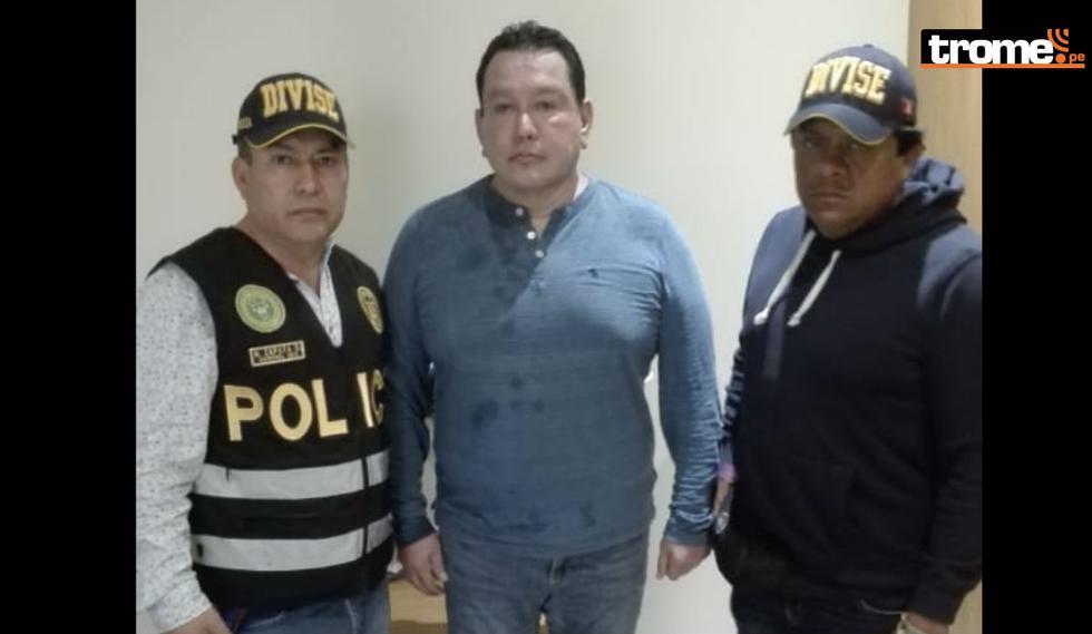 De esta forma fue detenido Félix Moreno. (Foto: Mininter)
