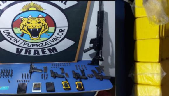 Cusco: Atrapan a seis hombres dentro de casa con 84 kilos de cocaína y armas de guerra (Foto: PNP)