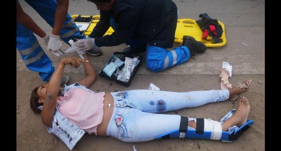 Pistoleros en moto balean a chica en Villa El Salvador.
