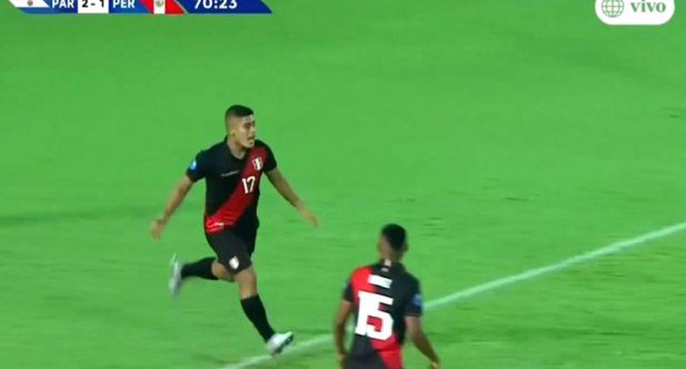 Luis Carranza, mediocampista de la selección peruana Sub 23
