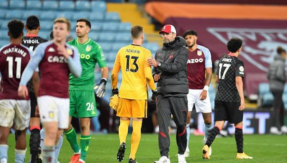 Liverpool perdió 7-2 ante el Aston Villa por Premier League. (Foto: EFE)