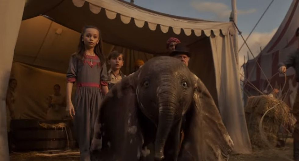 "Disney lanzó el tráiler oficial de la película live action de ""Dumbo"".(Foto: Captura de video)"
