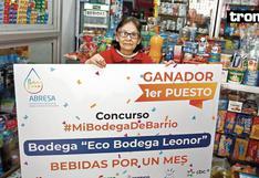"""Doña Leonor Rosales de 'Eco bodega': """"Nuestra bodega fue elegida la mejor del barrio"""""""