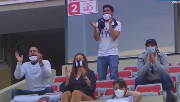 Dirigentes de Alianza Lima alentaron a los jugadores en importante partido