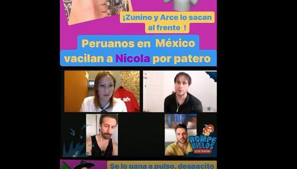 Marco Zunino arremetió contra Nicola Porcella por tatuaje mal hecho de La Virgen de Guadalupe.