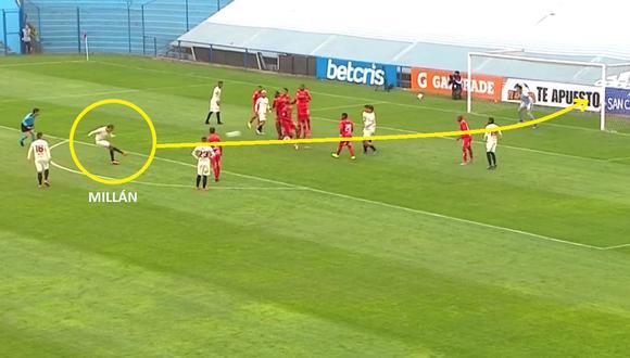 Gol de Donald Millán en Universitario vs Cienciano por Liga 1
