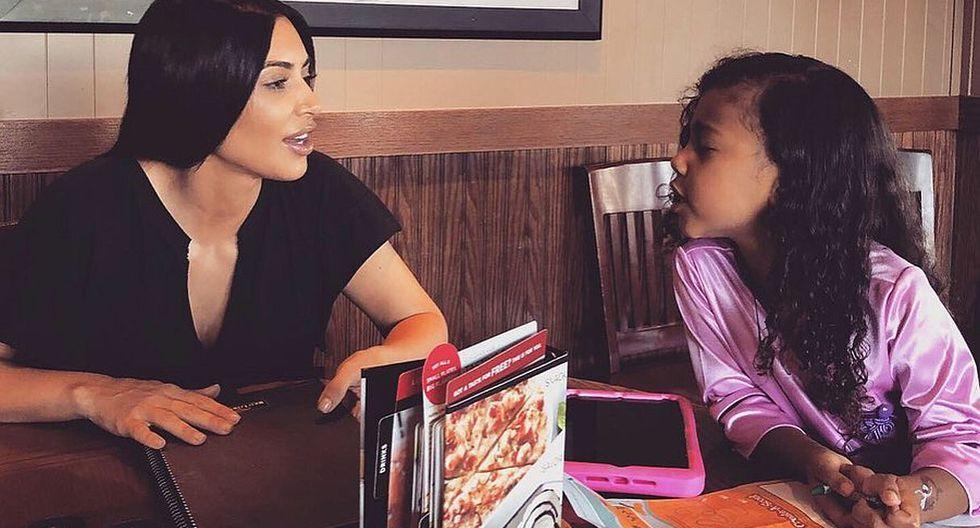 Kim Kardashian sorprende con fotografía de su hija North West con un bolso de más 30 mil dólares. (Foto: @Kimkardashian)