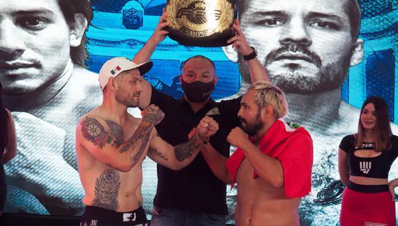 David Cubas (derecha) enfrentará al mexicano Enrique Granados, por el título interino de peso wélter vacante del FFC. (Difusión)