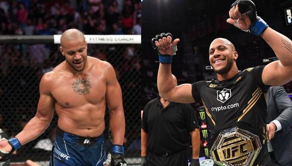 Ciryl Gane es el nuevo campeón interino de peso completo del UFC.  (Captura ESPN)