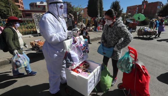 Con cerca de once millones y medio de habitantes, Bolivia acumula un total de 16.009 muertes y 419.313 contagios de COVID-19. (Foto: EFE)
