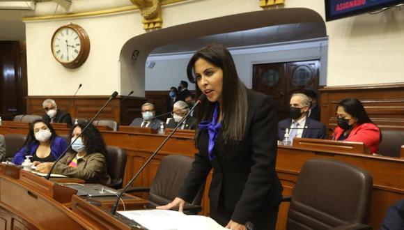 Patricia Chirinos acusó a Guido Bellido de haberla insultado. (Foto: Congreso)